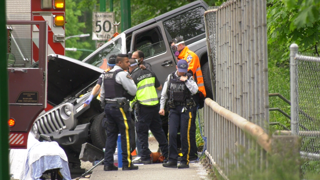 Jeep crash in Burnaby