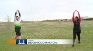 "On this week's Fitness Friday we learn about the ""Prairie Challenge"" while stretching"