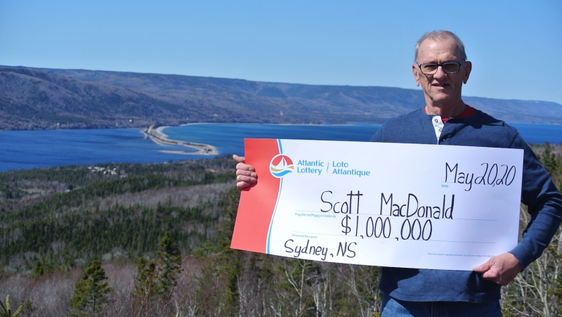 Scott MacDonald of Sydney, N.S., is the Maritimes' newest millionaire after winning $1 million in the March 25 Lotto 6/49 draw.