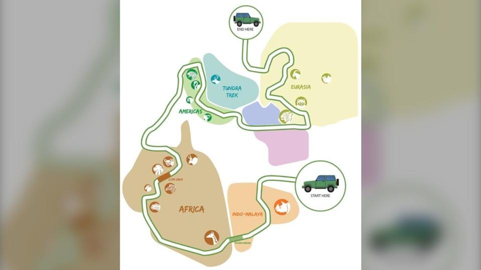 """Toronto Zoo """"Scenic Safari"""" route"""