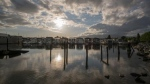 Sunset at the Mosquito Creek Marina captured by Weather Watch by CTV Vancouver app user Dkenz Yap in North Vancouver in May 2020.