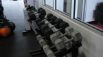 Weights at a gym (Marc Smith / CTV News Regina)