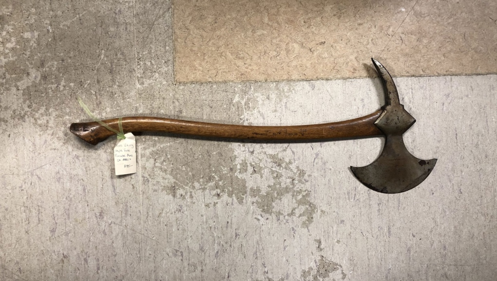 viking axe, high river, lost and found, calgary