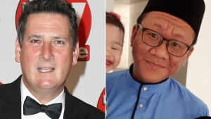 Tony Hadley (left) waded into a disagreement with a Singaporean radio station, earning Muhammad Shalehan thousands of dollars.