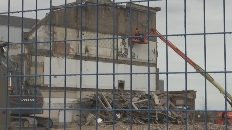 Demolition of Brantford heritage building underway