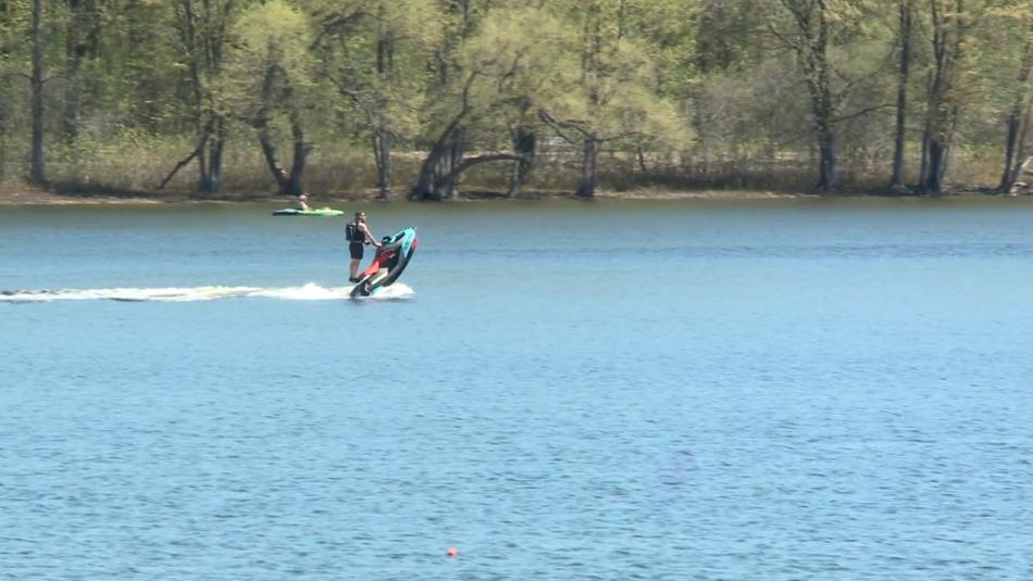 Man on jet ski Ottawa River