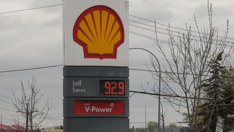 The most expensive gas in Calgary is up to 92.9 cents per litre on May 23, 2020, despite Western Canadian Select oil prices sitting at about $30 per barrel.
