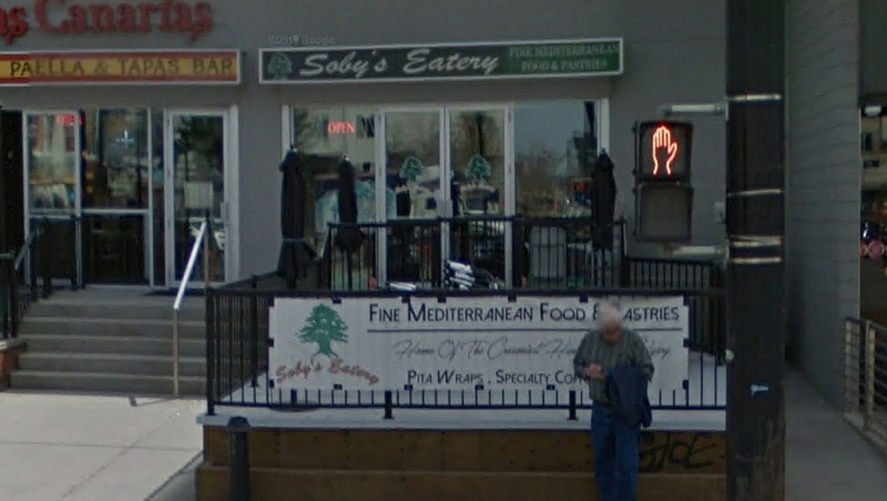Soby's Eatery, on Calgary's 17 Avenue, was told to stop serving customers inside its restaurant after AHS inspectors found it was doing so on May 20, 2020. (File/Google Maps)