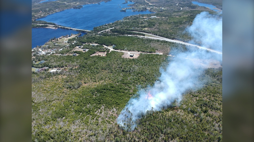 Forest fire in Porters Lake, N.S.