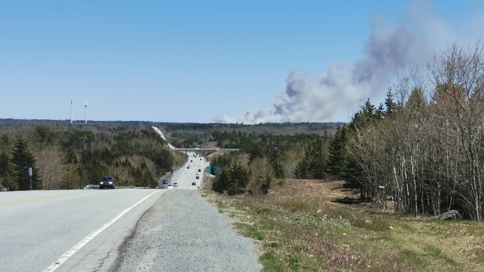 Porters Lake Fire on May 23 2020