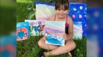 Charley's plan was to set up a stand outside on the lawn and sell her artwork to raise money for the local food bank. (Zoë Urquhart)
