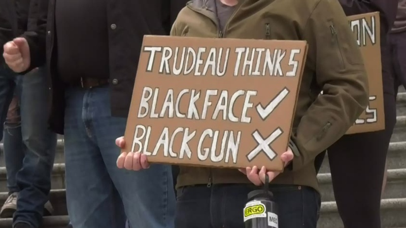 Protesters rally against firearms ban