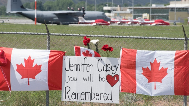 'Will never be forgotten': Procession honours Capt. Jennifer Casey