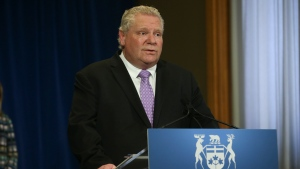 Ontario Premier Doug Ford speaks during the daily briefing at Queen's Park in Toronto on Friday May 22, 2020. THE CANADIAN PRESS/Jack Boland