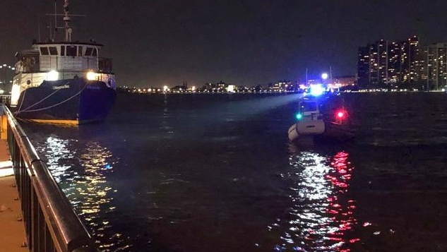 The search for a man in the Detroit River