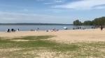 A day at the beach at the Aylmer Marina on Sunday, May 24 (Leah Larocque/CTV News Ottawa)