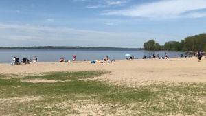 A day at the beach at the Aylmer Marina on Sunday, May 24 (Leah Larocque/CTV News Ottawa)