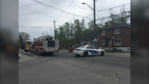 Intersection of Howey and St Raphael. May 24/2020 (Alana Pickrell/CTV Northern Ontario)