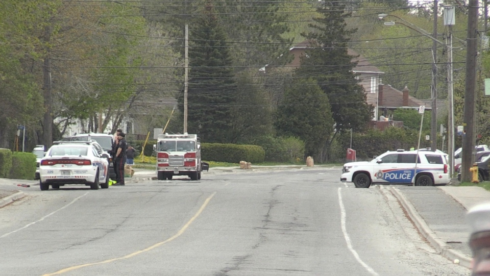 Police are requesting the public avoid the area of Howey Drive at Van Horne due to an increased police presence. May 24/2020 (Alana Pickrell/CTV Northern Ontario)