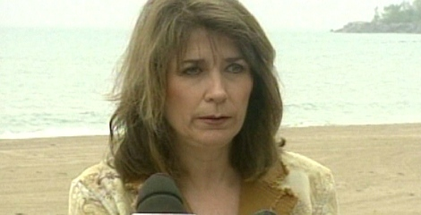 Coun. Sandra Bussin makes an announcement in her Beaches-East York riding as seen in this undated photo.