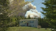 Porters Lake forest fire persists for a second day