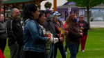 Family and friends of April Parisian held a vigil for the missing woman in Hope, B.C> on Saturday, May 23, 2020. (CTV)