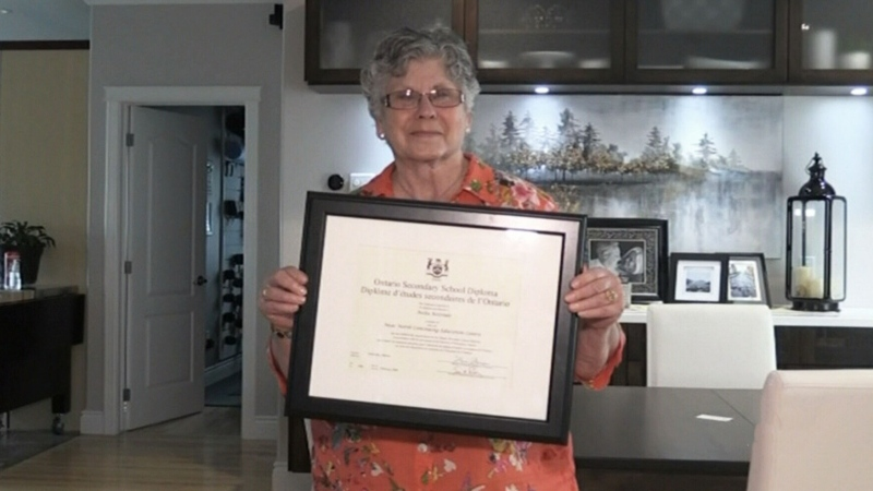 Woman completes GED after 62 years out-of-school