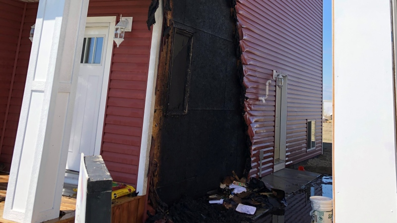 The fire dept. said bystanders helped put out a fire Sunday afternoon. Photo by the SFD.