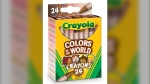 A Canadian makeup developer has helped create a new line of Crayola crayons that are meant to accurately reflect human skin tones. (Crayola)