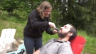 Island man shaves beard