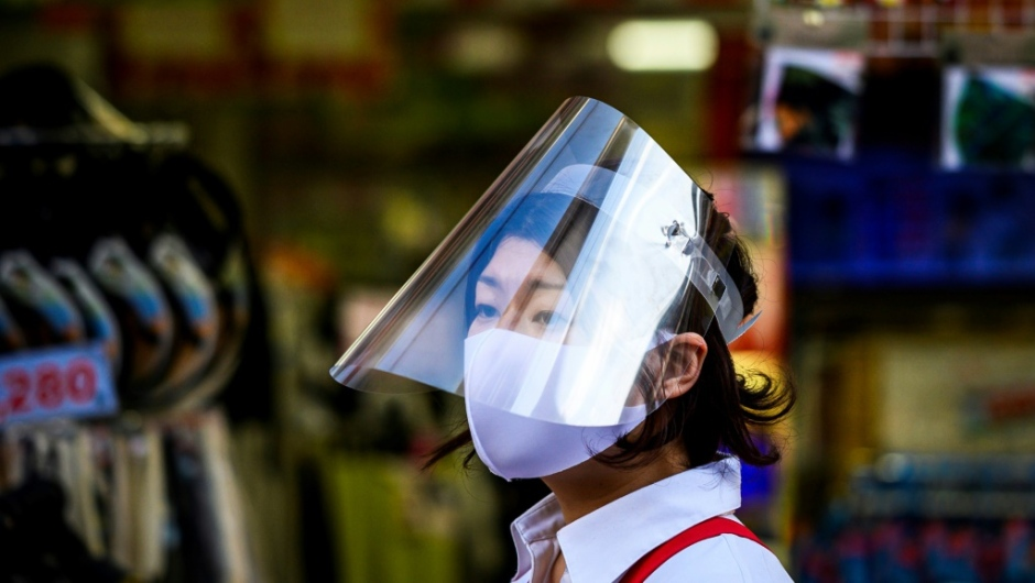 A widespread culture of mask-wearing has been cited as a possible reason for the low level of coronavirus in Tokyo. (AFP)