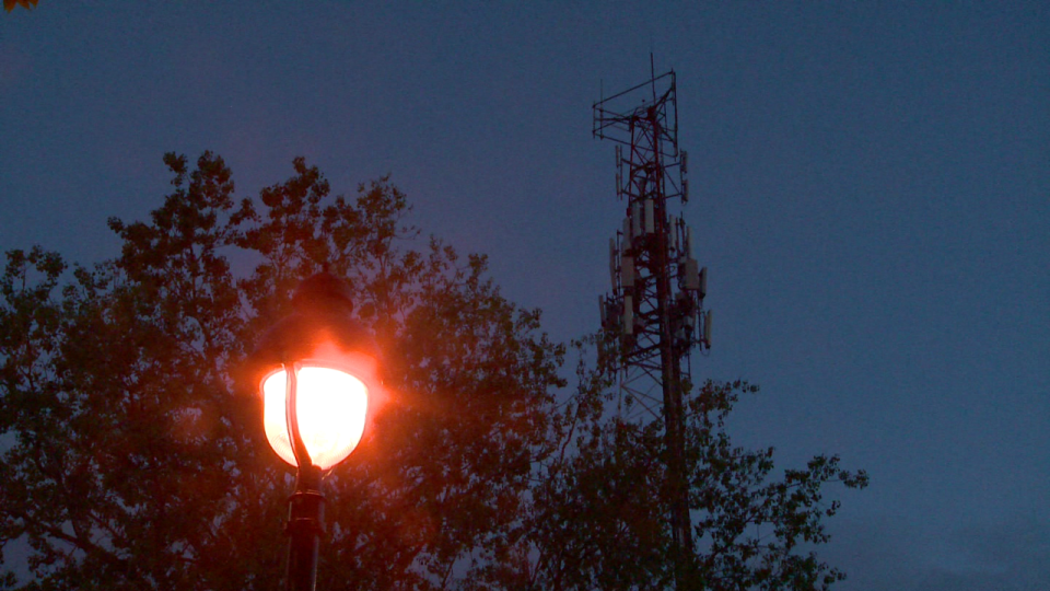 A cell tower in Saint-Henri was set on fire early Monday morning / Cosmo Santamaria, CTV Montreal