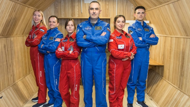 Six people participated in a four-month study in 2019 that was a pre-cursor to NASA's upcoming study. (Credit: Institute for Biomedical Problems / NASA)
