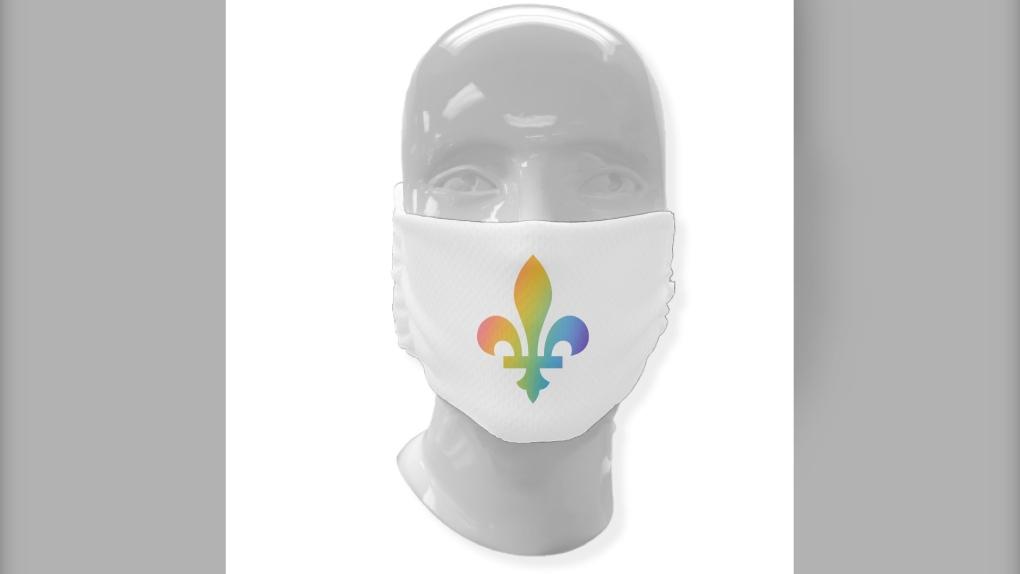 Fleur-de-lys mask 4