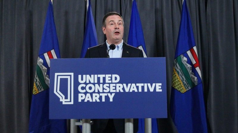 Alberta Premier Jason Kenney holds a media conference at the Alberta United Conservative Party Annual General Meeting in Calgary, Alta., Sunday, Dec. 1, 2019. THE CANADIAN PRESS/Dave Chidley