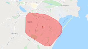 One of two large outages affecting Vancouver Island Monday morning is in the Langford-Colwood area. (Google Maps)