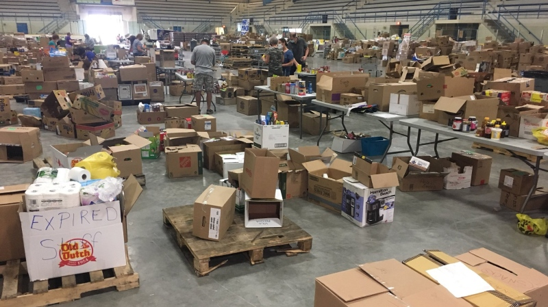 Items gathered for the May 16th Miracle in Chatham-Kent, Ont., on Monday, May 25, 2020. (Chris Campbell / CTV Windsor)