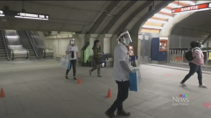 The City of Montreal is spending millions to hand out free masks to public transit users.