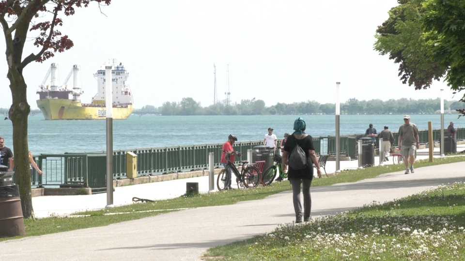 The waterfront in Windsor, Ont., on Sunday, May 24, 2020. (Ricardo Veneza / CTV Windsor)