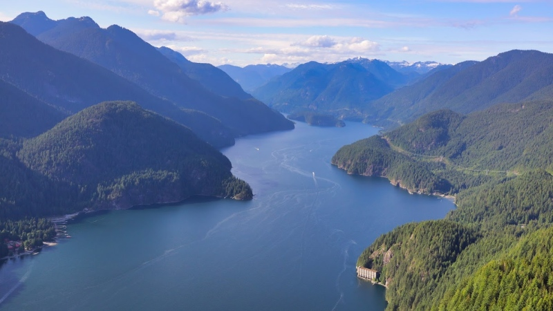 Indian Arm is seen from the air in June 2019. (Gary Barndt for CTV News Vancouver)