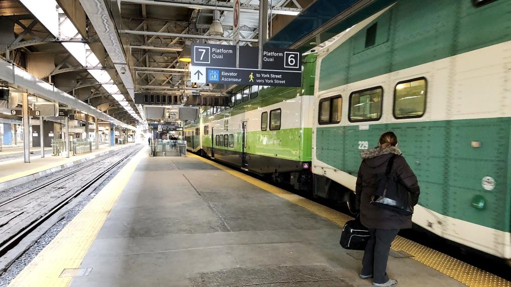 GO Train platform