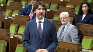 Prime Minister Justin Trudeau in the House of Commons on Monday, May 25, 2020. (CTV News)
