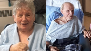 Beverley (left) and David McFarland seen here in these provided photos. Their family says they have been separated since COVID-19 measures forced Beverley to be relocated from a hospital to a long-term care home.