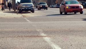 Since the province placed restrictions on the type of paint that can be used on Ontario's roadways several years ago, staff in Sudbury have been trying to find a paint that will last. (File)