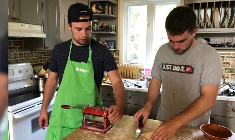 With many growing increasingly restless and bored during isolation, two brothers in Sudbury, Nicolas and Joel Mongeon, decided to use their passion to give back to the community. (Photo courtesy of Nicolas Mongeon)
