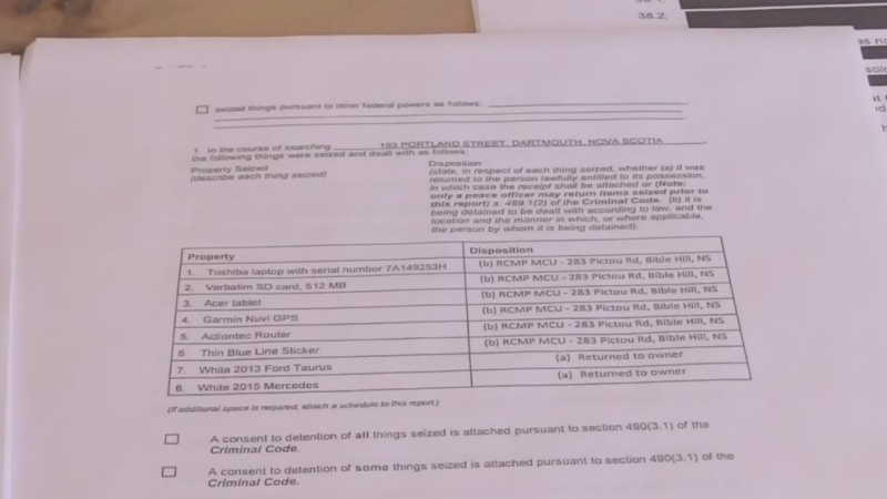 Documents reveal few details of searches