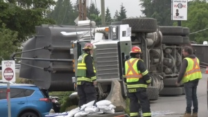 Approximately 1,500 BC Hydro customers lost power in Nanaimo Monday morning after a dump truck brought down a power line: (CTV News)