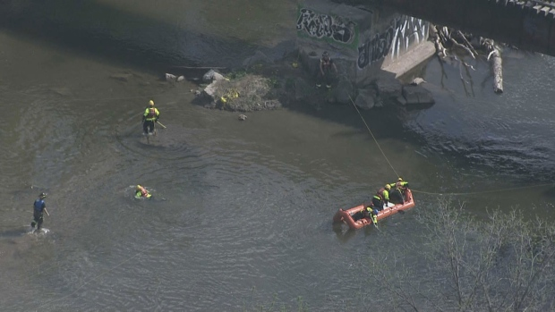 One male dead after being pulled from Credit River in Mississauga