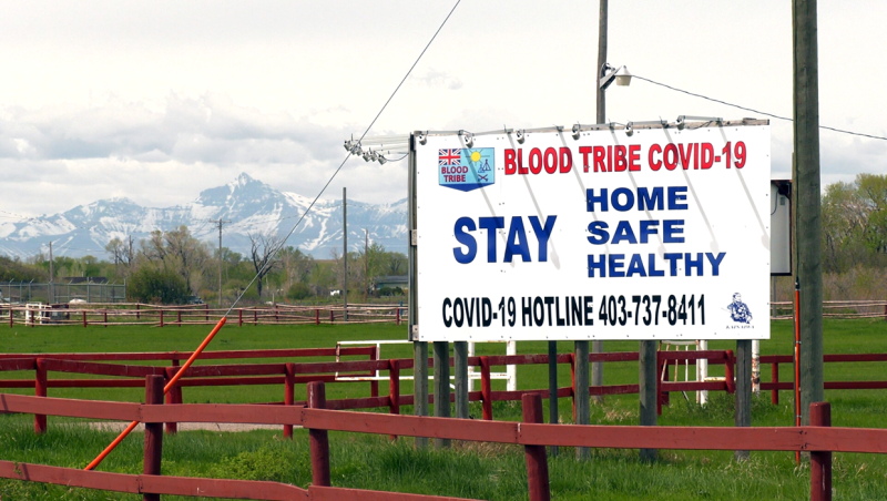 The Blood Tribe stopped the campaign after people on social media questioned its legitimacy.