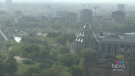 A view of downtown Ottawa Monday, May 25, amid hazy, humid conditions.